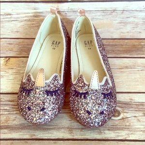 Gap sparkle unicorn shoes